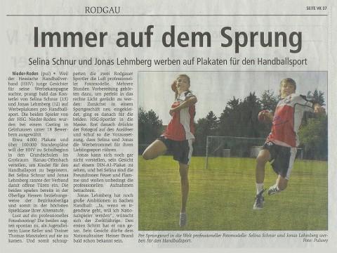 Wir werben für den Handballsport